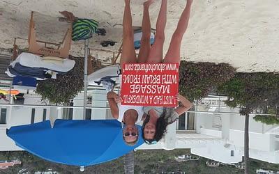 Dawn beach beach massage